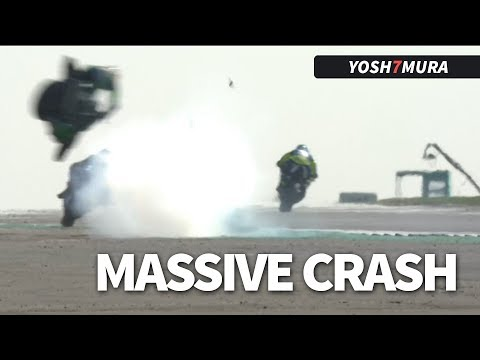 MASSIVE Crash in the National Superstock 1000 race at Silverstone