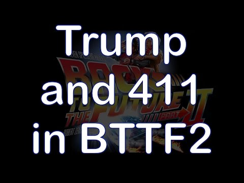 Donald Trump and 411 in Back to the Future II Movie