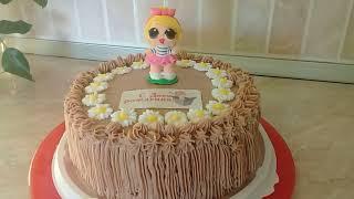 Бисквитный торт с кремом для Маши