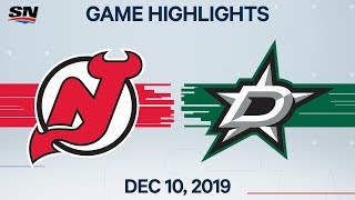 NHL Highlights | Devils vs. Stars - Dec. 10, 2019
