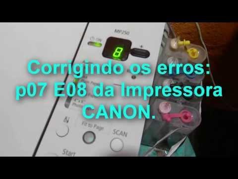 Canon Corrigindo o Erro P07 e E08 (tutorial em português).
