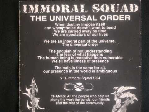 IMMORAL SQUAD canada ´the universal order´´ off the quebec crusadeva 7´´