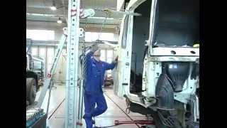 Услуги СТО Киев-Скан(Данный сюжет посвящен услугам по рихтованию кабин и рам грузовиков любых марок на СТО