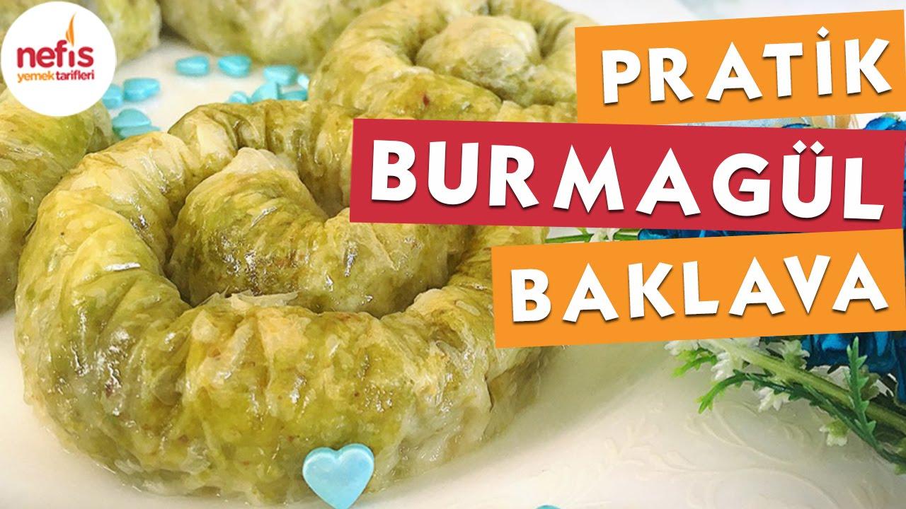 Burma gül baklava tarifi