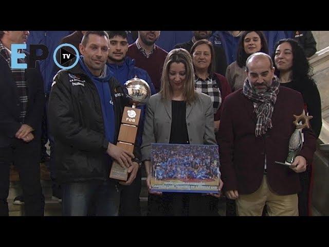 El Breo muestra en el Concello la Copa Princesa
