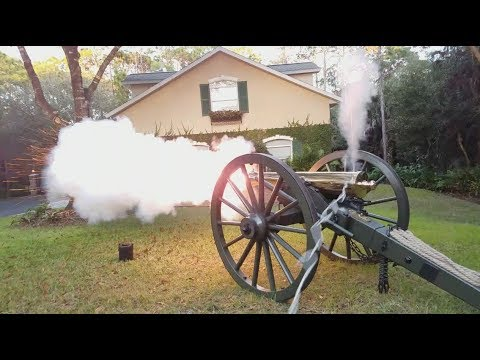 Cannon Fire Montage! Complete with real cannon balls! ...and police :(