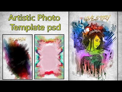 Artistic Photo Template psd