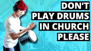 Don't play the drums in church please (360° Music Video - Live looping)