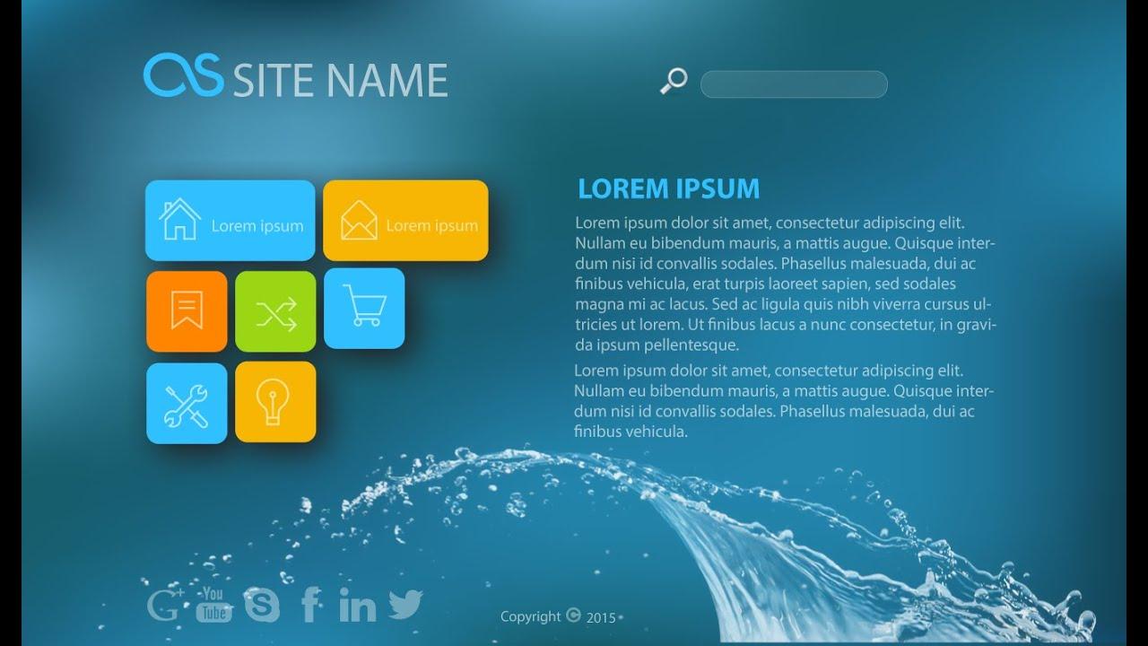 Web Design Illustrator Tutorial:  Graphic Web Design (Splash) - YouTuberh:youtube.com,Design