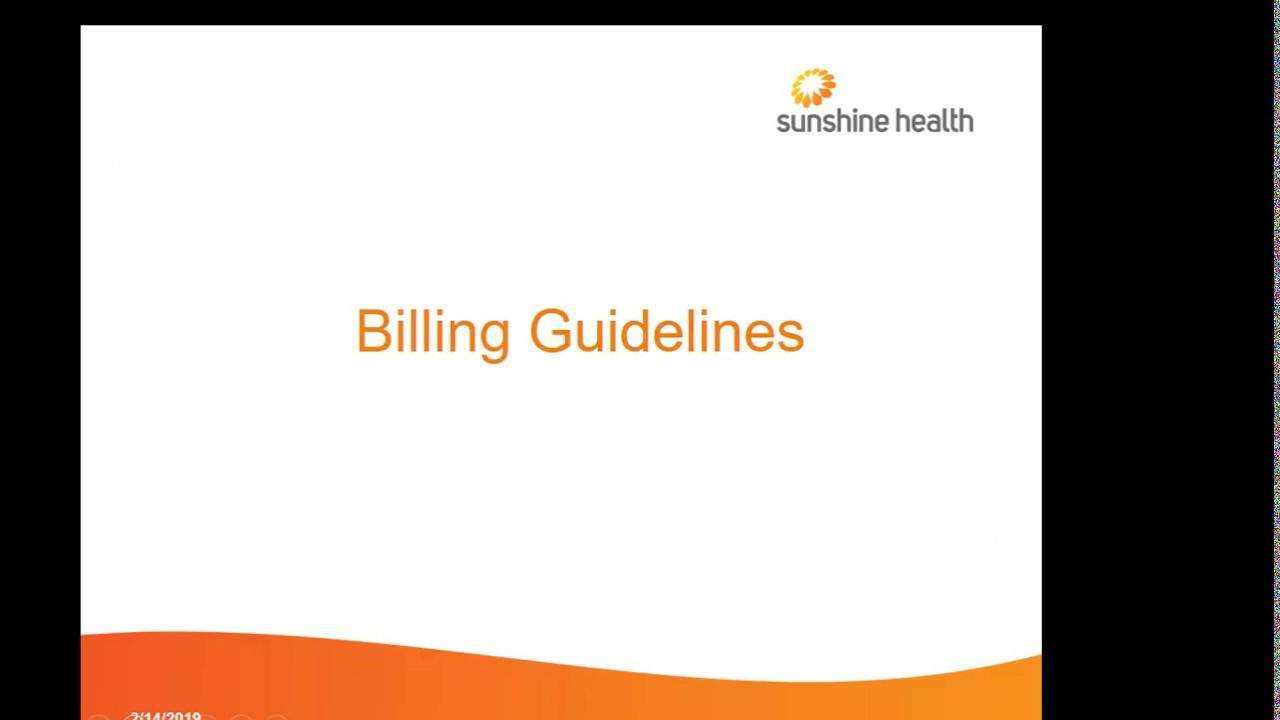 Provider Training | Florida Medicaid | Sunshine Health