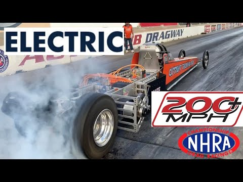 THE QUEST FOR 200 MPH WITH BATTERIES! ELECTRIC DRAGSTER TEAM AIM TO BEAT DON GARLITS TO HISTORIC RUN