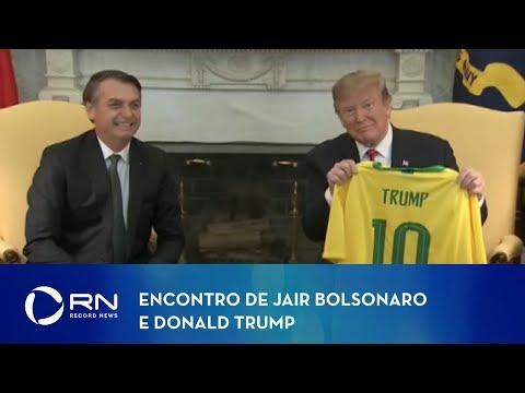 Encontro de Jair Bolsonaro e Donald Trump