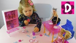 Распаковка Набора Барби Обед с Подружкой в Кафе Barbie Doll Set unboxing