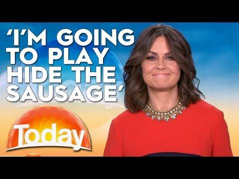 Lisa Plays Hide The Sausage   TODAY Show Australia