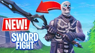 NEW SWORD FIGHT MODE!! (Fortnite Battle Royale Gameplay)