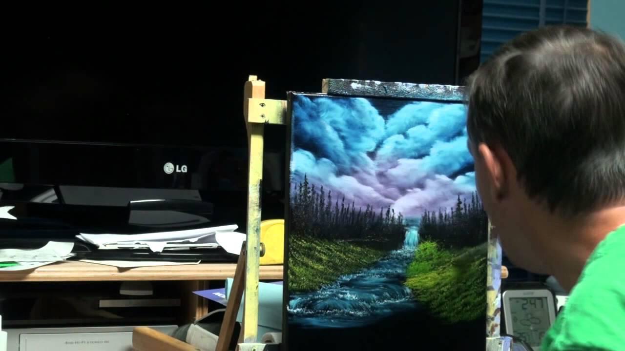 Mouth Painting - Bob Ross's - Season 2 - Episode 11 - Black Waterfall