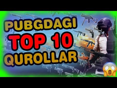PUBGDAGI TOP10 QUROLLAR//ENG YAXSHI AVTOMATLAR