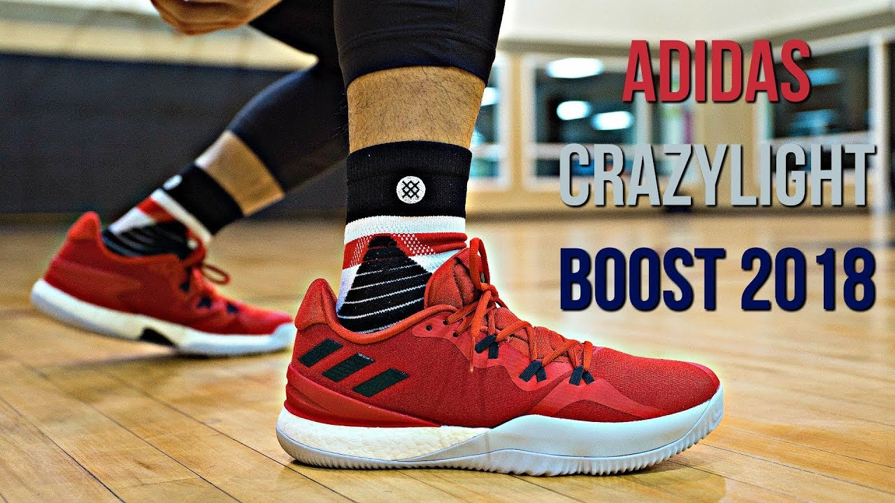 the latest e1972 27674 Adidas Crazylight Boost 2018 Performance Review!
