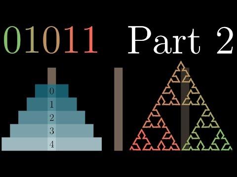 Binary, Hanoi, and Sierpinski, part 2