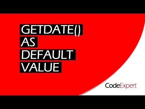 Sql server datetime getdate default