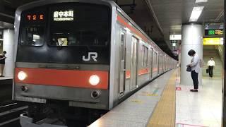 205系 千ケヨM1編成 東京駅発車 2017/09/05