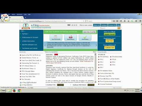 Online e Filing Income Tax Return in  Hindi