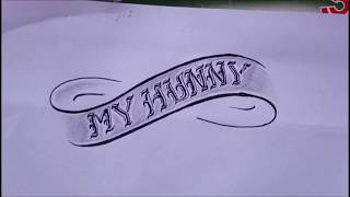 My Hunny Drawing -how To Draw For Tattoo-style Hunny For Tattoo_แบบสักลายสวยๆគំនូរ សាក់