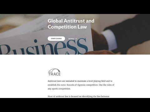 TRACE eLearning: Global Antitrust & Competition Law