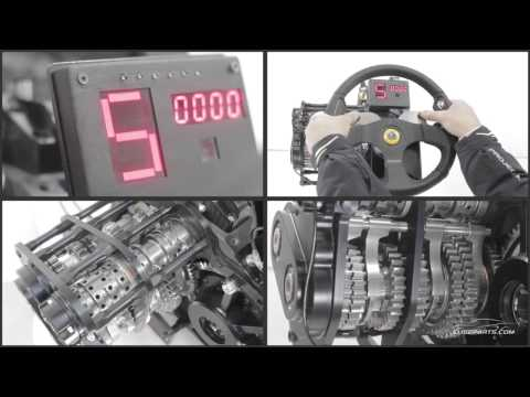 EliseParts Sequential gearbox working internals view - YouTube