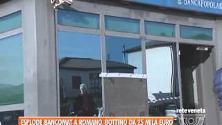 18/12/2014-ESPLODE IL BANCOMAT A ROMANO, BOTTINO DA 25MILA EURO