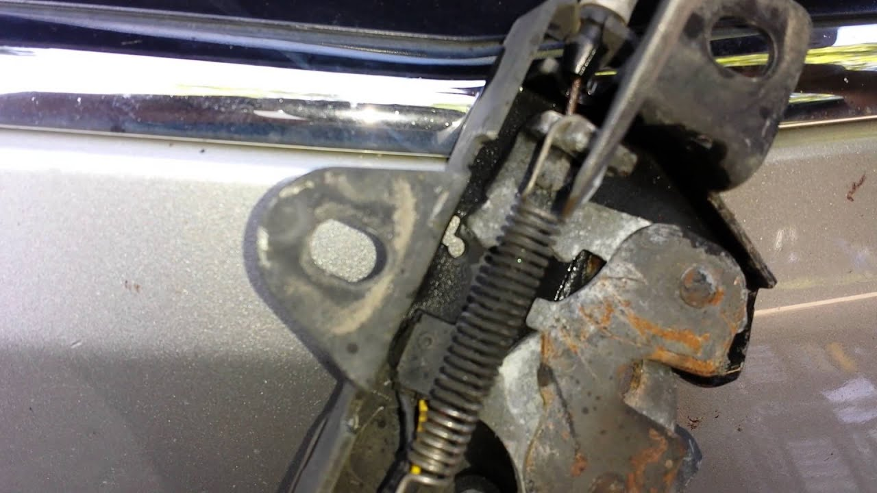 Installing a hood latch on 2008 Saturn Vue - YouTube