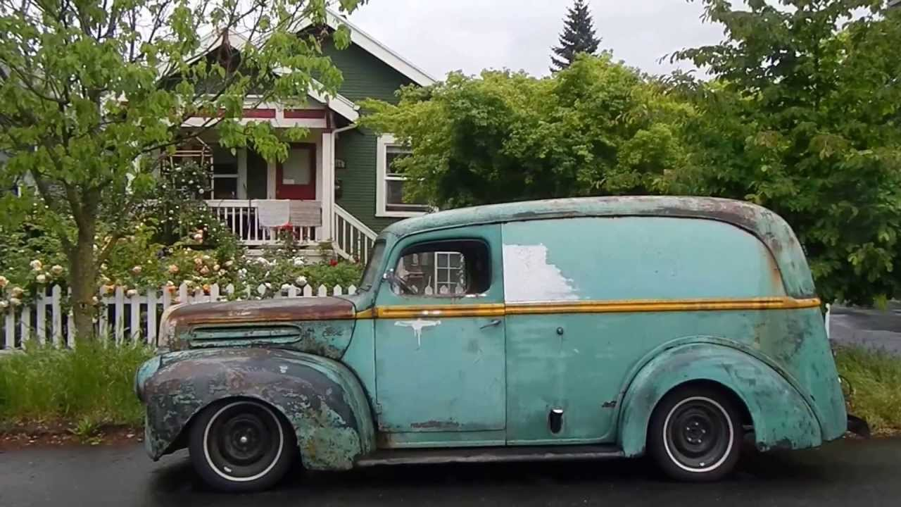 40s 1950 Something Ford Panel Van Dscn0558 Youtube 1948 Truck 4x4
