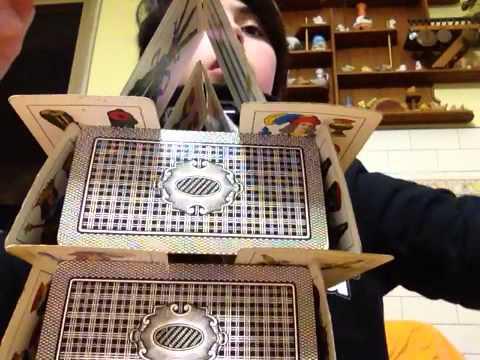 Torre di carte da gioco youtube for Case di tronchi economici da costruire