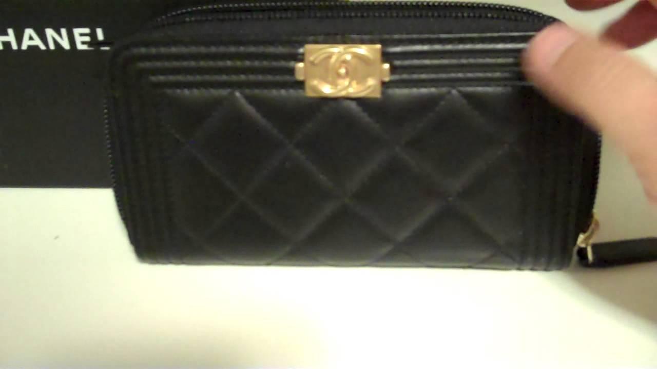 e1c5b786e2e3c1 Chanel Boy Zipped Wallet - YouTube