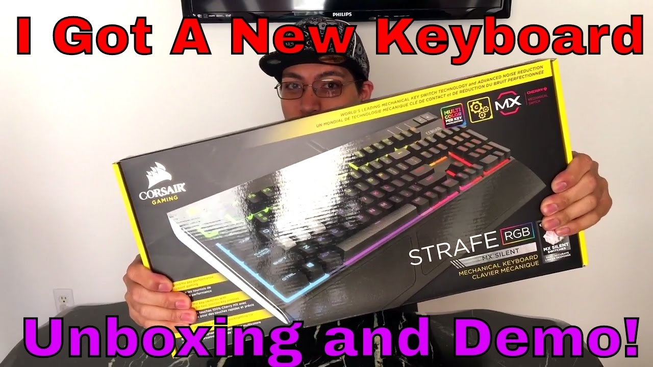 19aca179106b14 Corsair Strafe RGB Mechanical Keyboard Cherry MX Silent Switch Unboxing    Demo