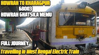 Howrah to Kharagpur Local Train | 68003 Howrah Ghatsila MEMU | Howrah to Kharagpur Full Journey