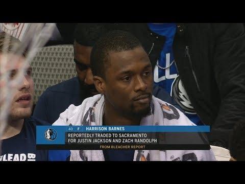 Harrison Barnes Traded Mid Game to Kings! 2018-19 NBA Season