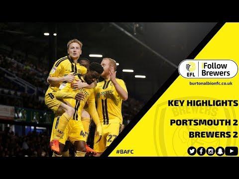 MATCH HIGHLIGHTS | Portsmouth 2-2 Burton Albion