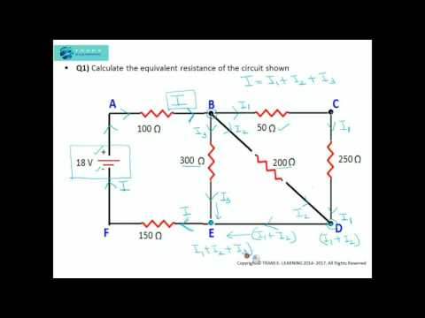Kirchhoff's Laws - How to solve problems using Series and Parallel circuit combinations