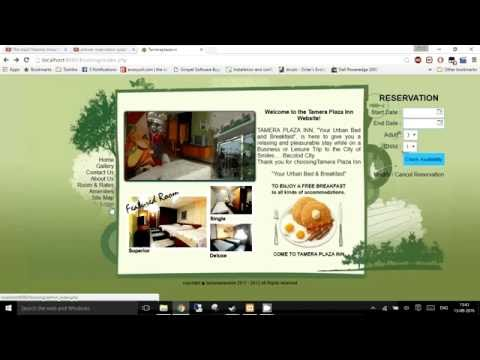 Hotel Management System In PHP,HTML And Javascript