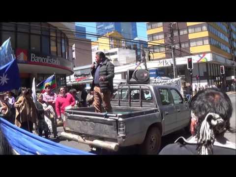 marcha por la libredeterminación mapuche  9nov16, mensaje de dirigentes