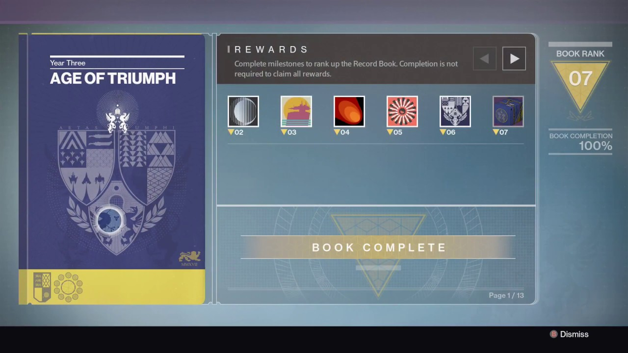 destiny age of triumph worlds first book complete 100% ? - youtube