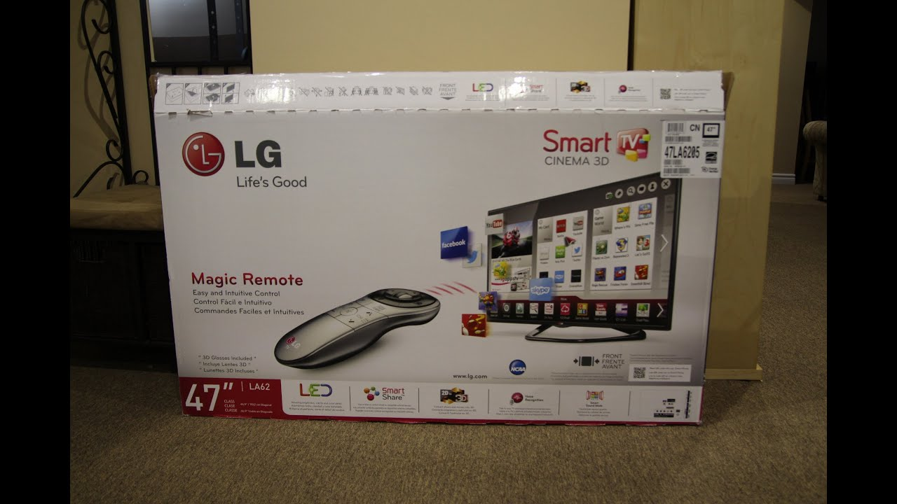 LG 47LA6205 47 1080p LED 3D Smart TV Unboxing  YouTube