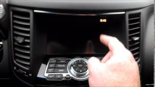 2015 Infiniti QX70 interior Driving in Wyoming