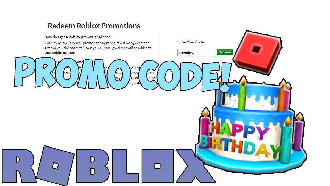 New Roblox Birthday Promo Code *EXPIRED* YouTube