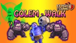 GOLEM WALK   NEW TH9 WAR STRATEGY   INSANE WAR ATTACK STRATEGY   CLASH OF CLANS