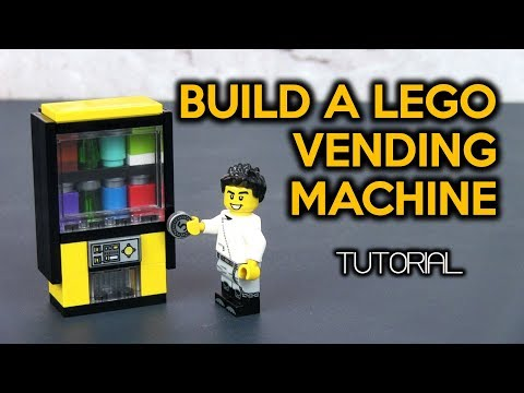 Build A Cool LEGO Vending Machine (Version 2 MiniFig-scale)