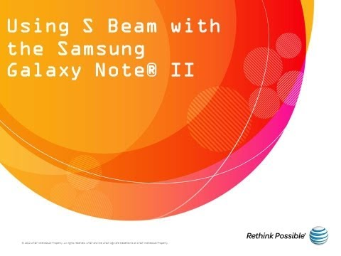 Using S Beam with the Samsung Galaxy Note® II: AT&T How To Video Series