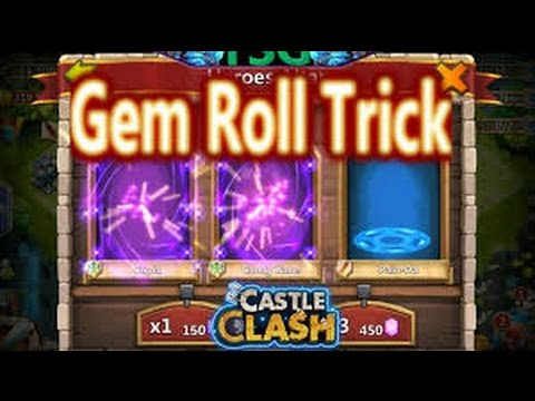 Castle Clash The Most Epic Rolling!!with Epic Trick... Rolling 6k Gems For Legendary Heros