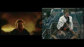 Coldplay - Viva La Vida (A Side by Side Music Video Comparison)
